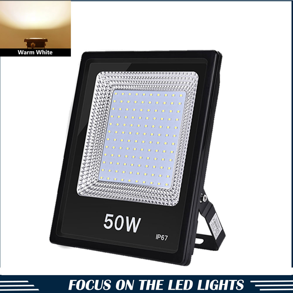 1000W LED Flood Light Outdoor Security Wall Lamp Landscape Spotlights Warm White