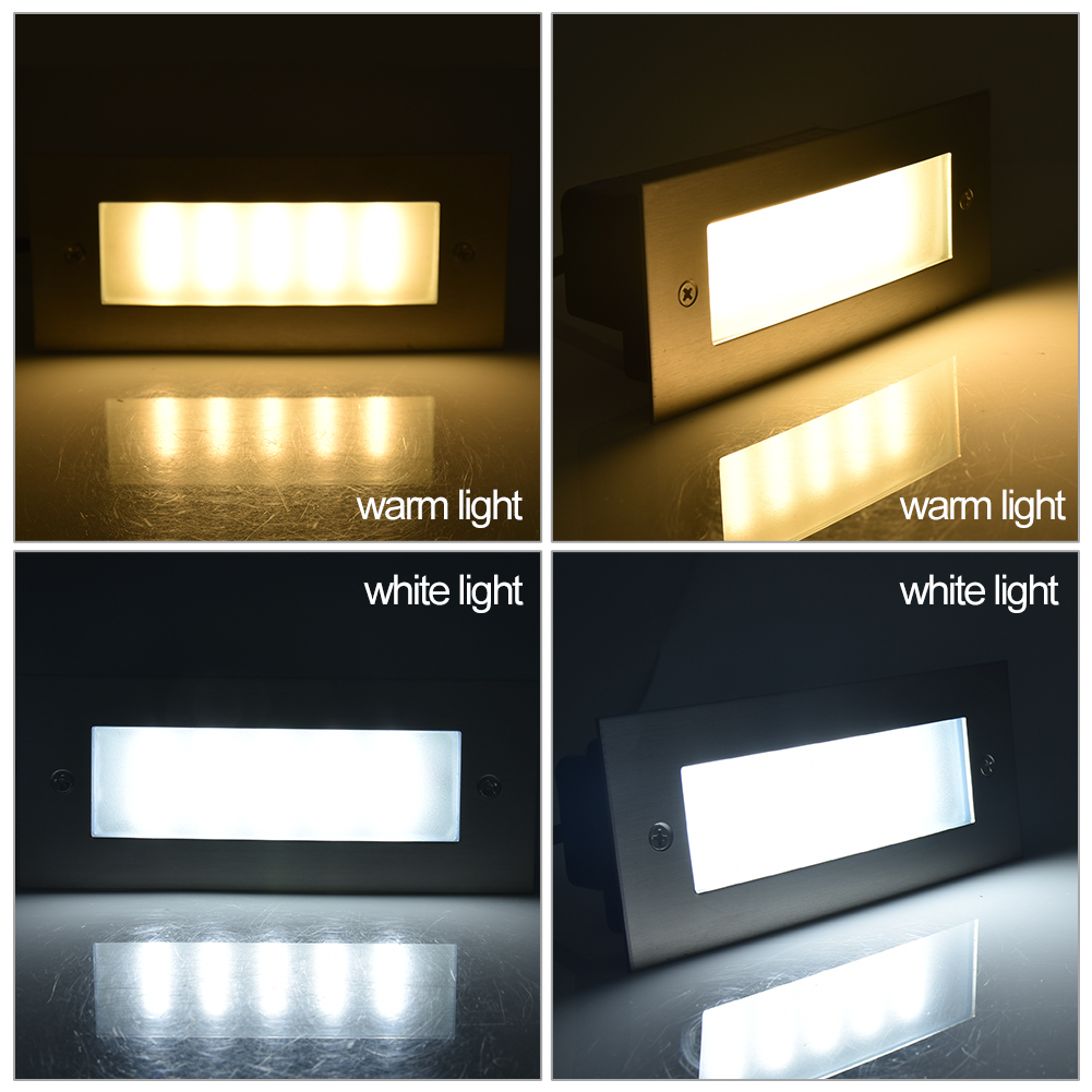 Outdoor 220V 3W LED Underground Light Fixture Step//Stairs Buried Lamp Waterproof