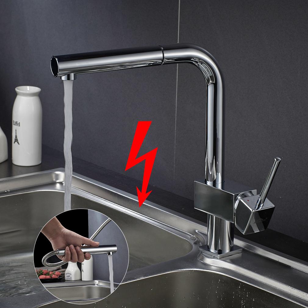 Niederdruck Wasserhahn Ausziehbar Küchenarmatur Mischbatterie Mit ...