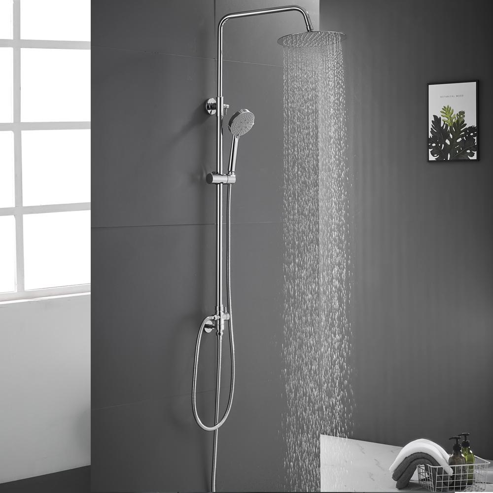 Edelstahl Duschset Duschpaneel Regendusche Duschgarnitur 4 farben DHL