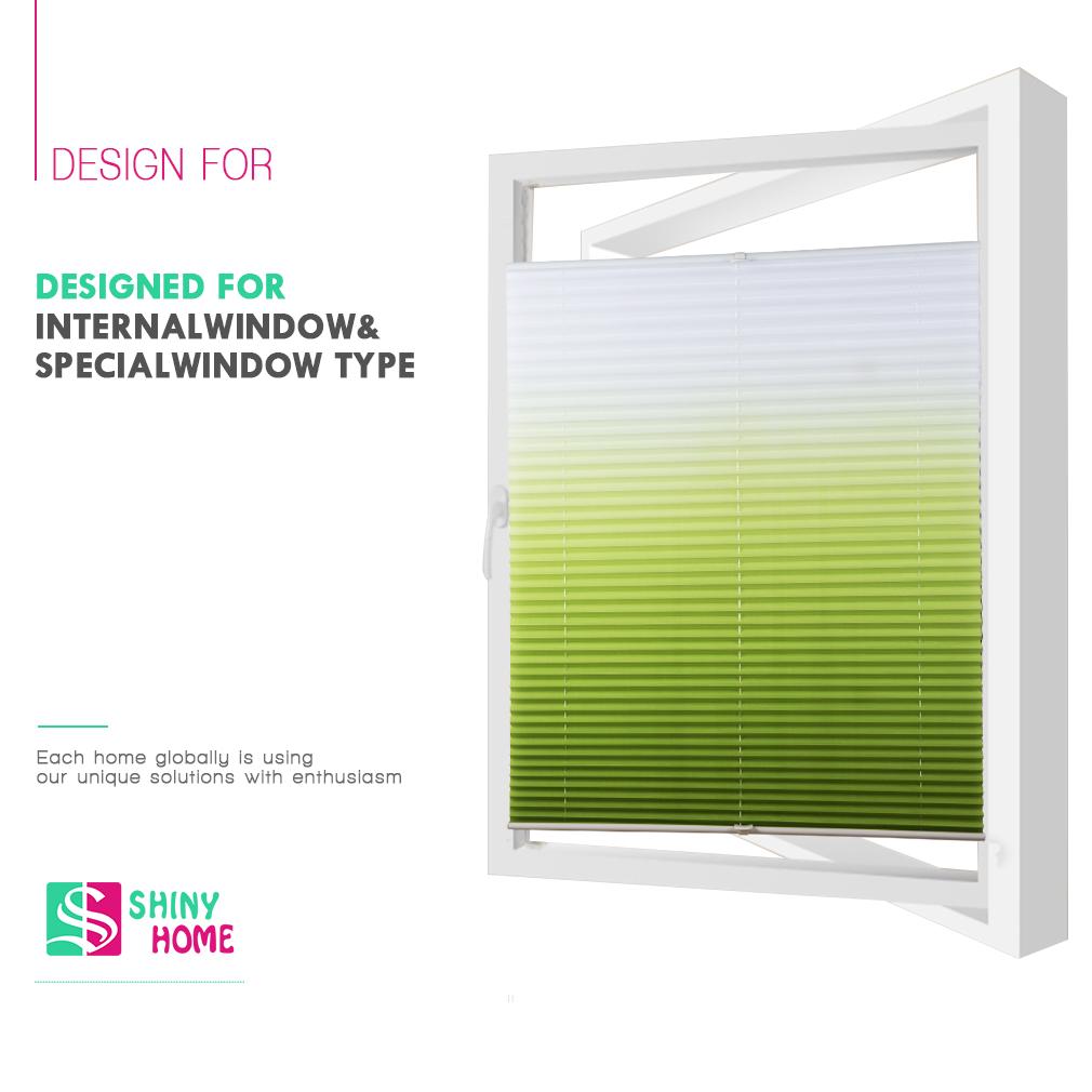 plissee klemmfix faltrollo ohne bohren jalousie verdunkelung rollo farbverlauf ebay. Black Bedroom Furniture Sets. Home Design Ideas