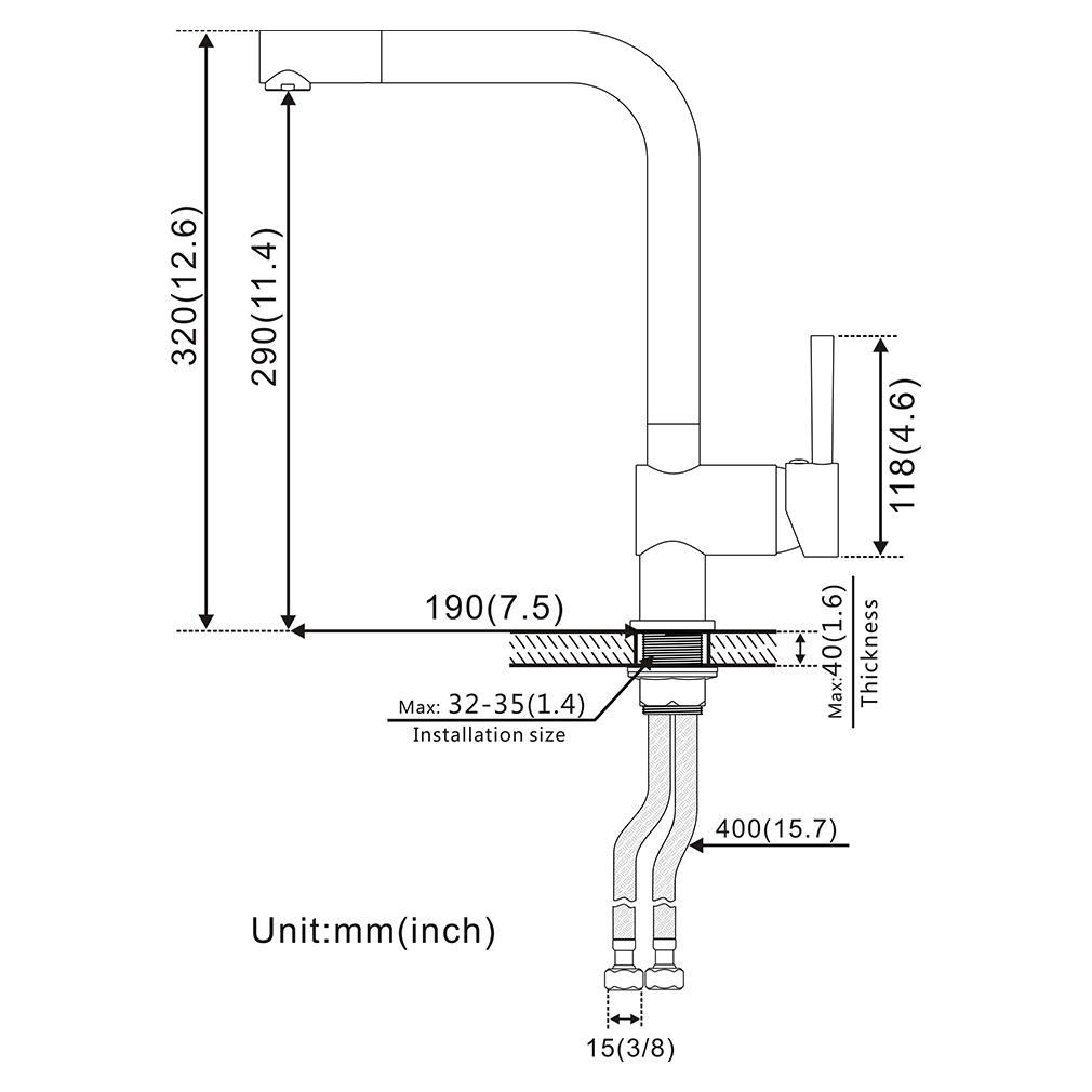 Schwarz Wasserhahn Küchenarmatur Einhebel Spültischarmatur mit 360 ...