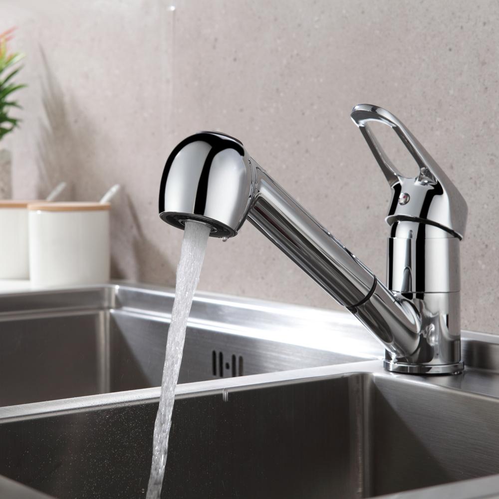 Küchenarmatur Einhebelmischer Wasserhahn Mischbatterie Spüle Armatur mit Brause