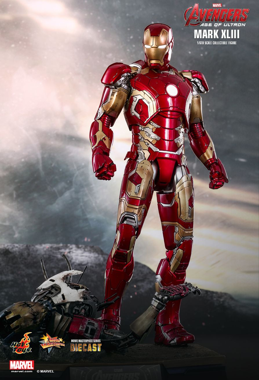 Lego Iron Man Mark 43 HOT TOYS 1/6 MARVEL AV...
