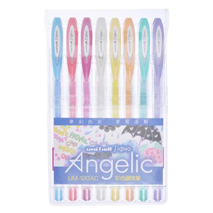 Mitsubishi Uni-ball Signo Angelic Gel Ink Rollerball Pen 0.7mm Red UM-120AC