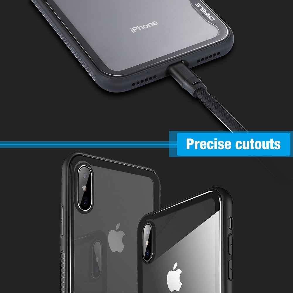 Cafele Tempered Glass Screen Protector Phone Case Cover For Apple 2in1 Gravity Full Iphone 6 Plus X 8 7