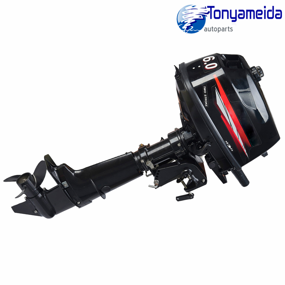 Outboard Motor Tiller Shaft Boat Engine 2 Stroke 6 Hp With Water Cooling System