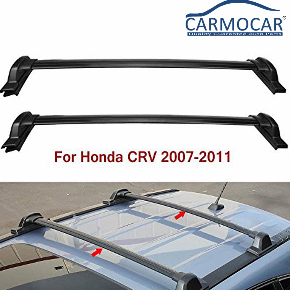 AUTEX 2Pcs//Set Roof Rack Crossbar Compatible with Honda CRV 2007 2008 2009 2010 2011 Cross Bar Aluminum Roof Top Cargo Carrier Rail Rack