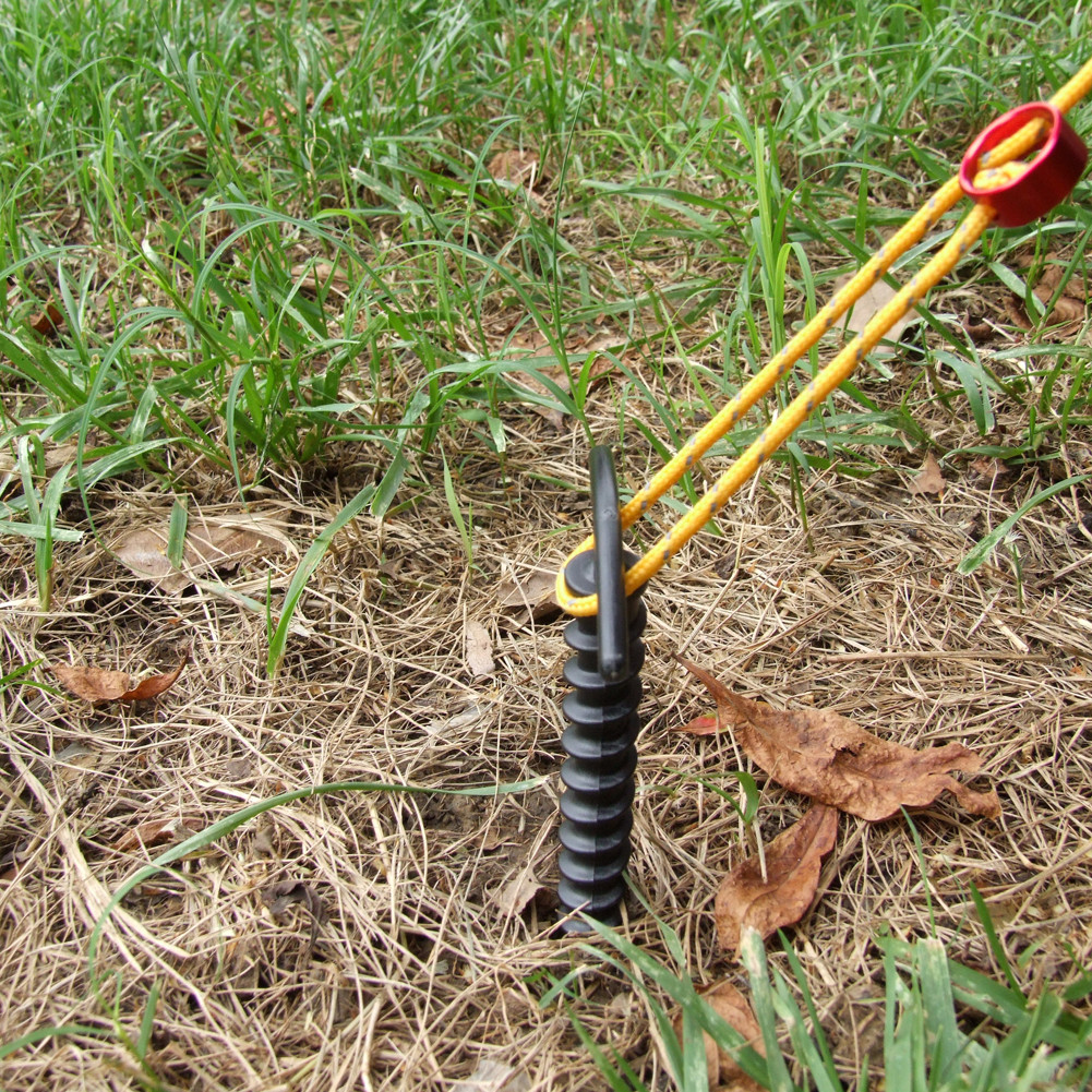 Outdoor Ultralight C&ing Awning Kit Plastic Screw Spiral Tent Stakes Peg Pins & Outdoor Ultralight Camping Awning Kit Plastic Screw Spiral Tent ...