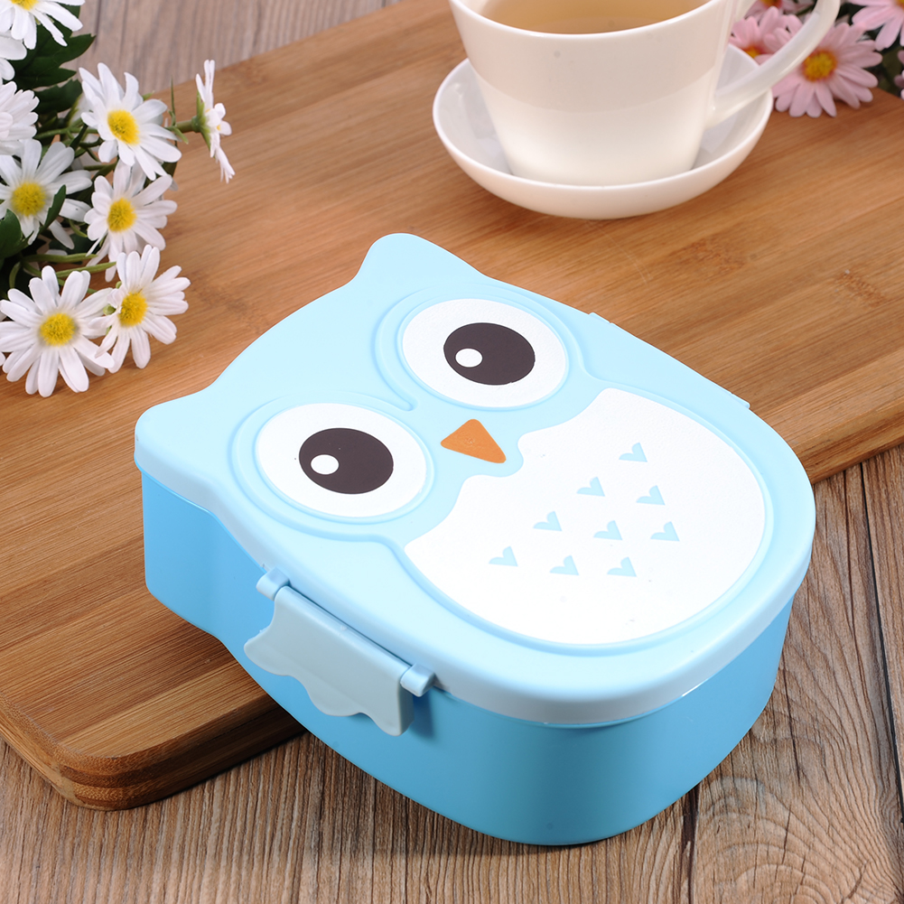Cute Cartoon Owl Food Container Storage Box Lunch Box Bento Box ...