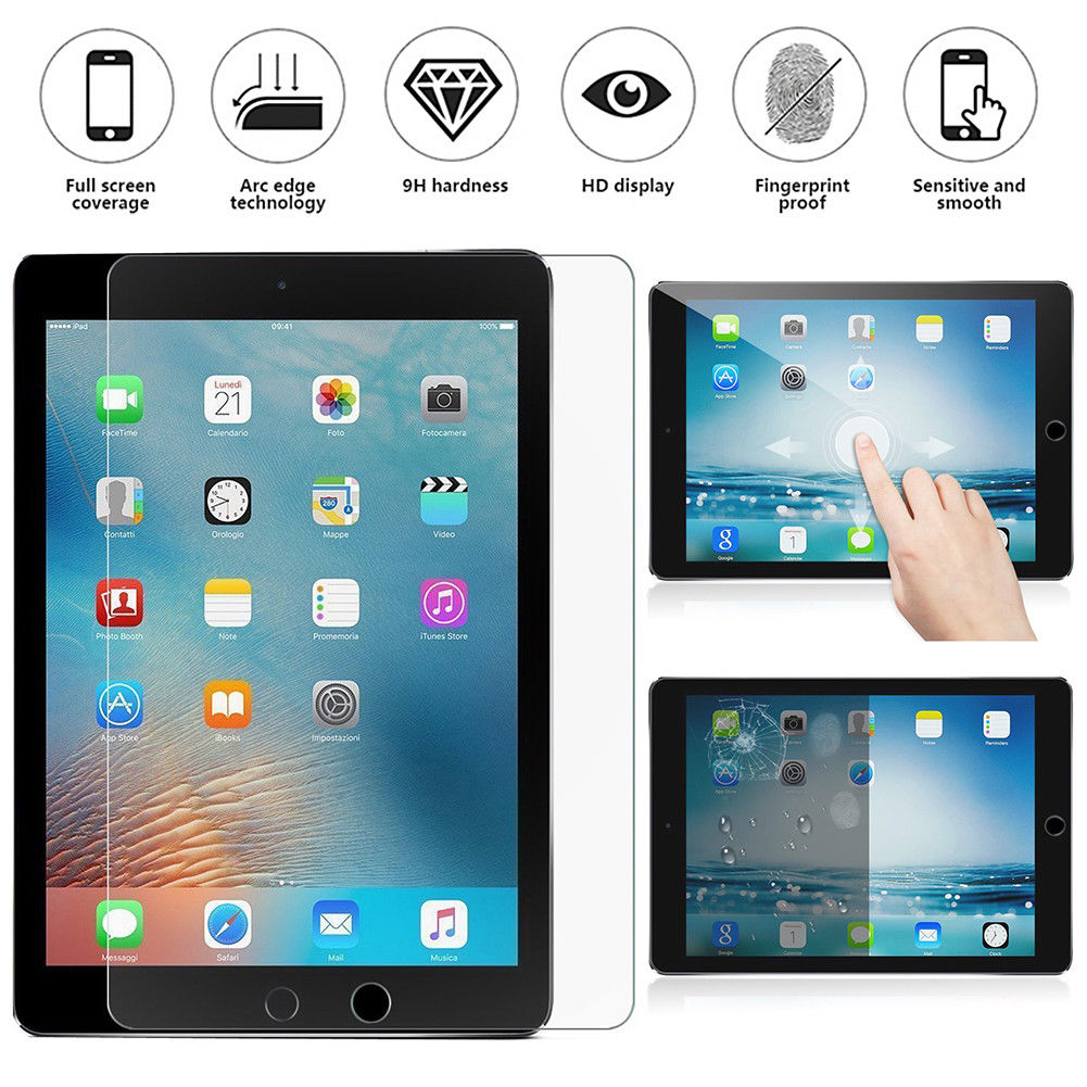 Premium Real Screen Protector Tempered Glass Film for 2018 iPad Pro 11in//12.9 in