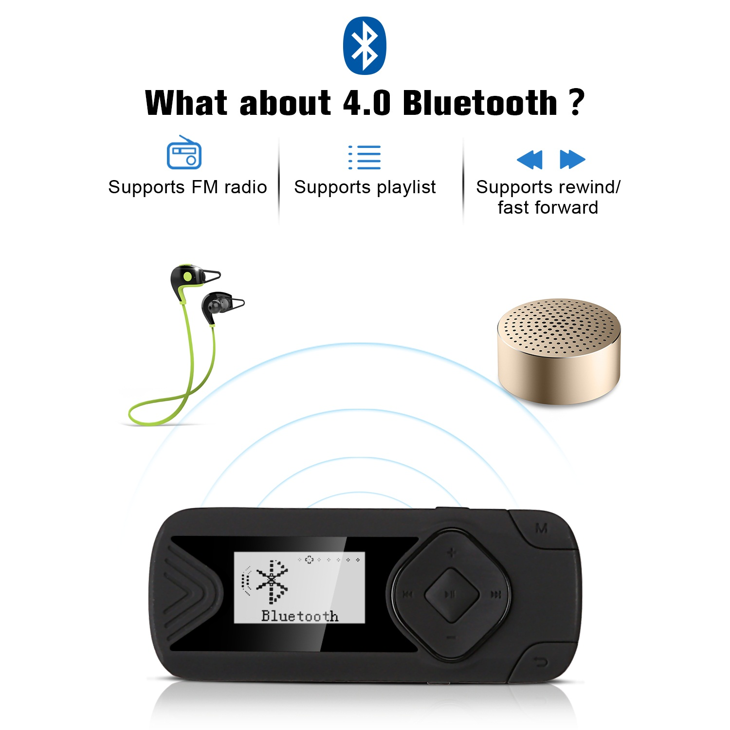 Details about AGPTEK R1S 16GB Bluetooth MP3 Player, Clip Lossless Music  Player