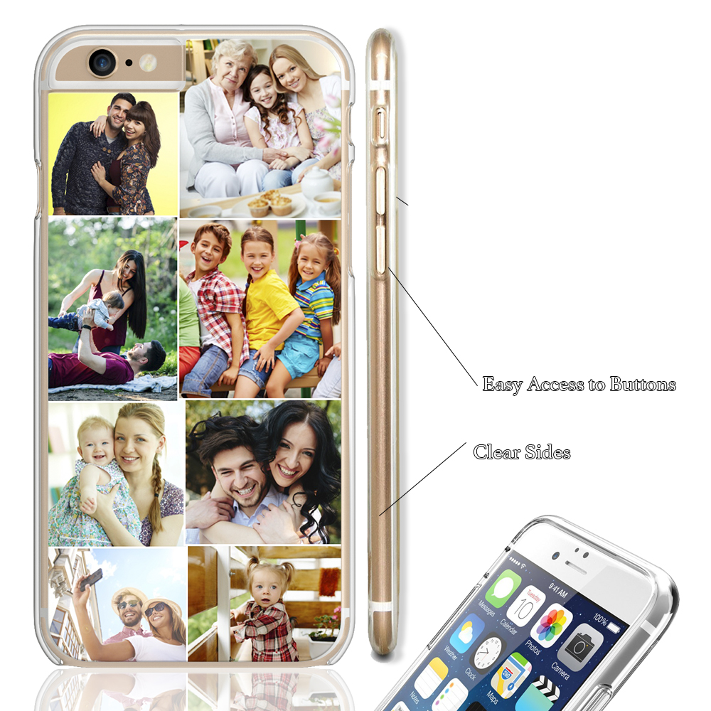 meet ce755 d2f7c Details about Custom Personalised Collage Hard Phone Case Cover iPhone  Create Own Mobile Case