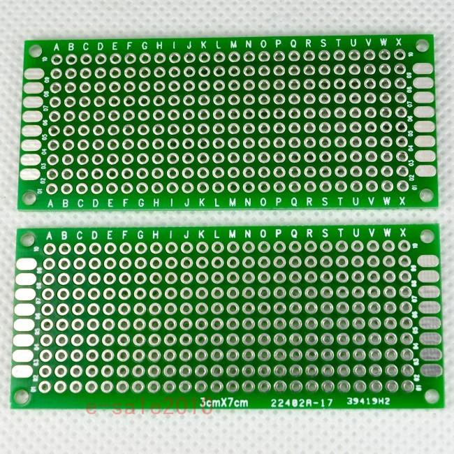 5pcs Double-side Protoboard Circuit Prototype DIY PCB Board 3x7cm