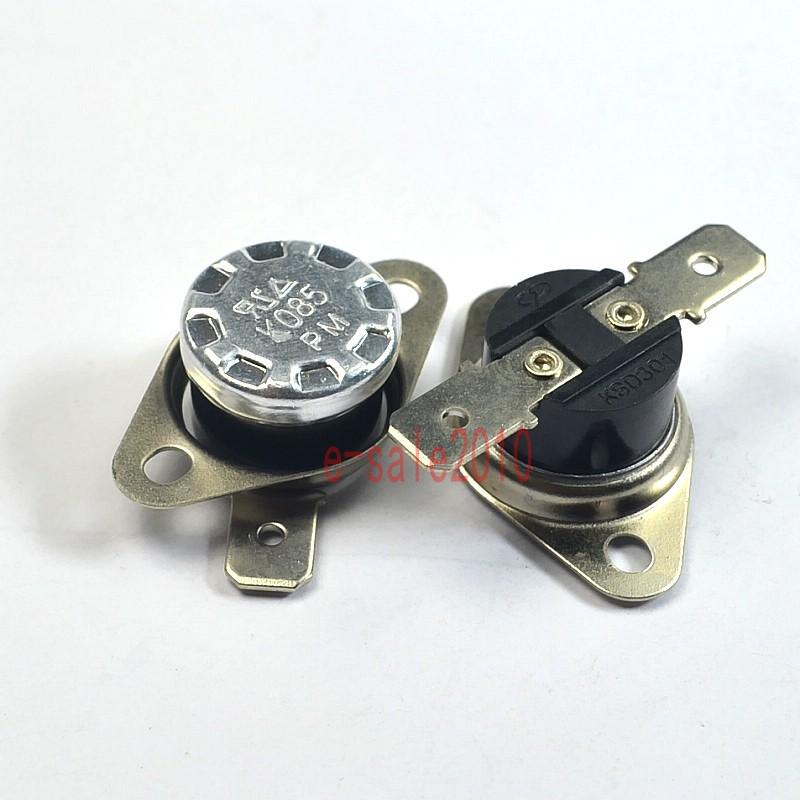 2pcs KSD301 NO 80°C UL Thermostat Temperature Control Switch Bimetal Disc N.O