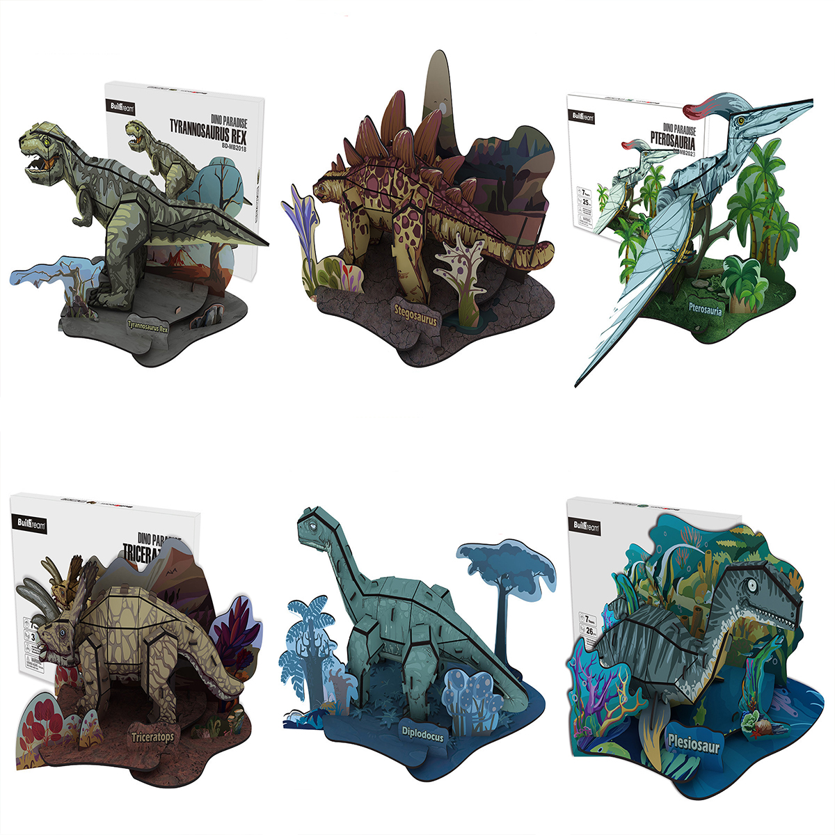 Details about DIY 3D Puzzle Animal Model Foam Board Jurassic Creature  Variety Dinosaur Model
