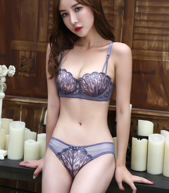 eb29a6d846 Lace Push Up Bra Women Underwear Large Cup A B 32 34 36 38 Bras Brassiere