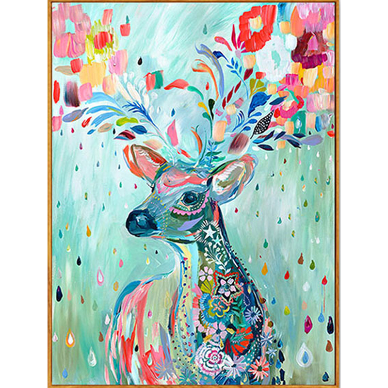 Partial Drill 5D Diamond Embroidery Painting Christmas Deer Cross Stitch Kit