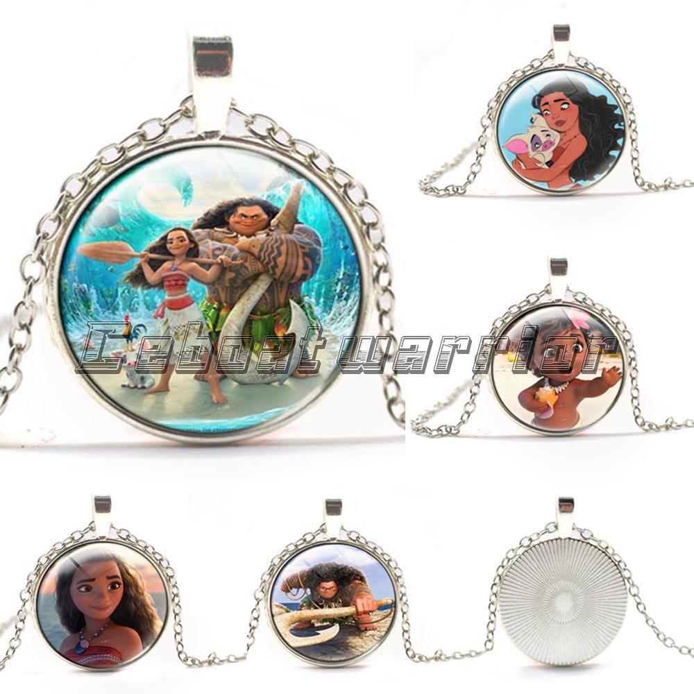 Hot moana glass necklaces silver plated pendants choker chain hot moana glass necklaces silver plated pendants choker chain womenmen gifts aloadofball Image collections