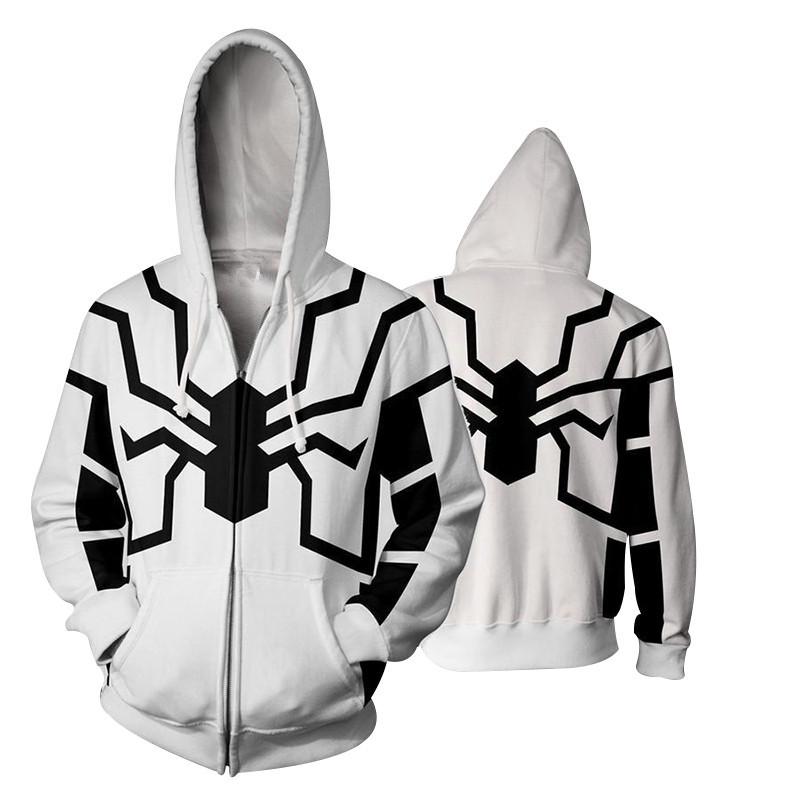 0e4d4067d Future Foundation Spider-Man Hoodies Coat Cosplay Costume Spiderman  Sweatshirt