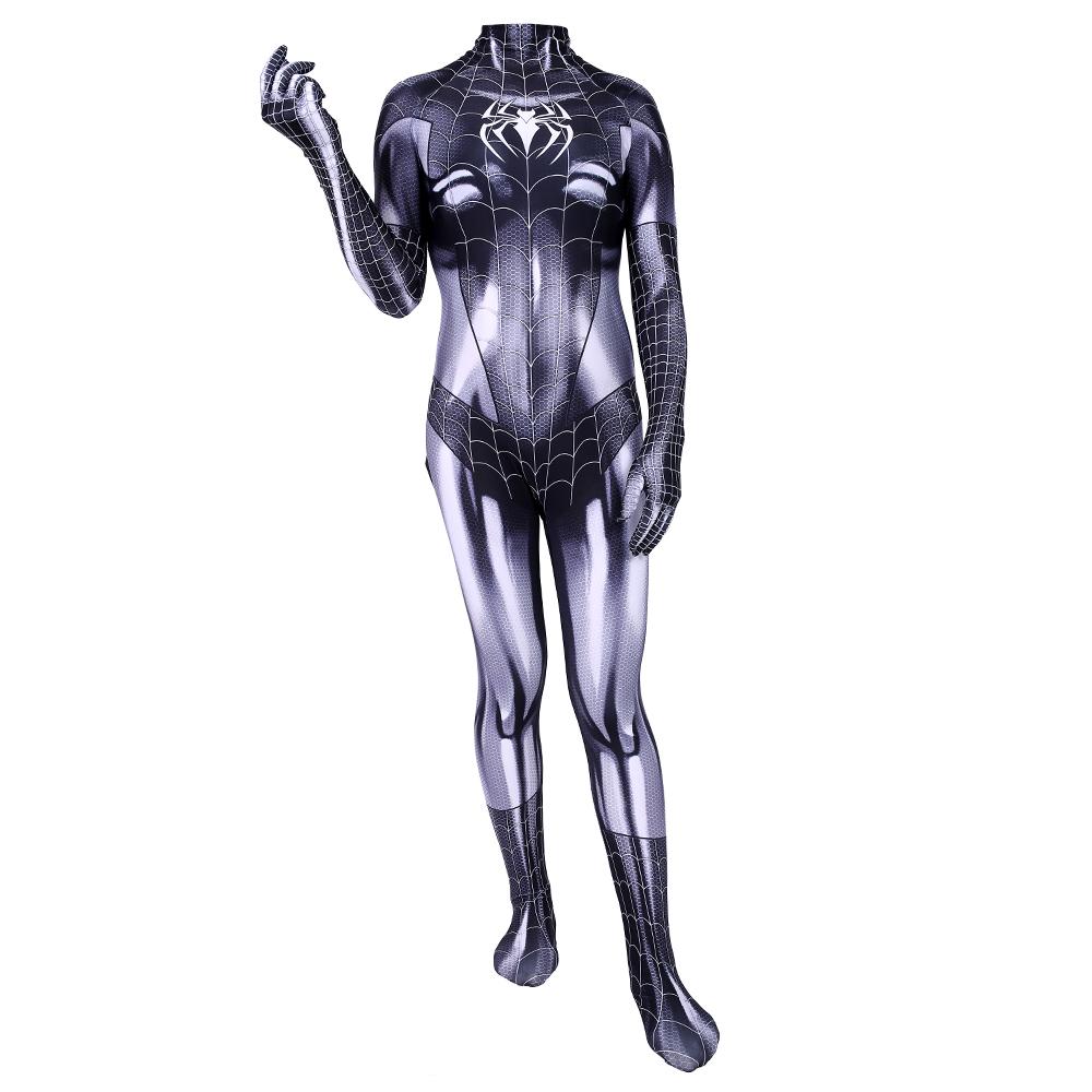 2017 Newest Black Cat Symbiote Female Cosplay Costume MJ