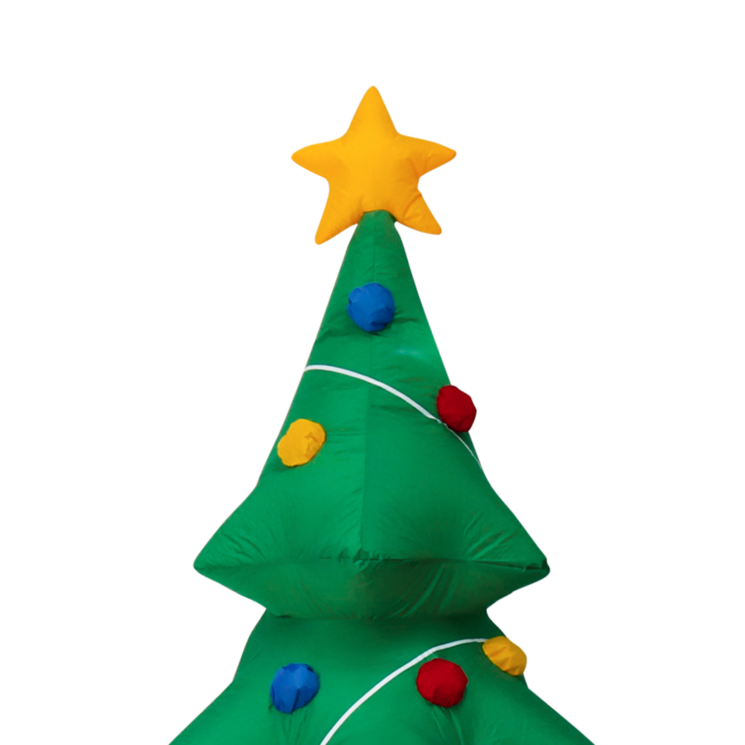 5 FT Lighted Air Blown Inflatable Christmas Tree Yard Graden ...