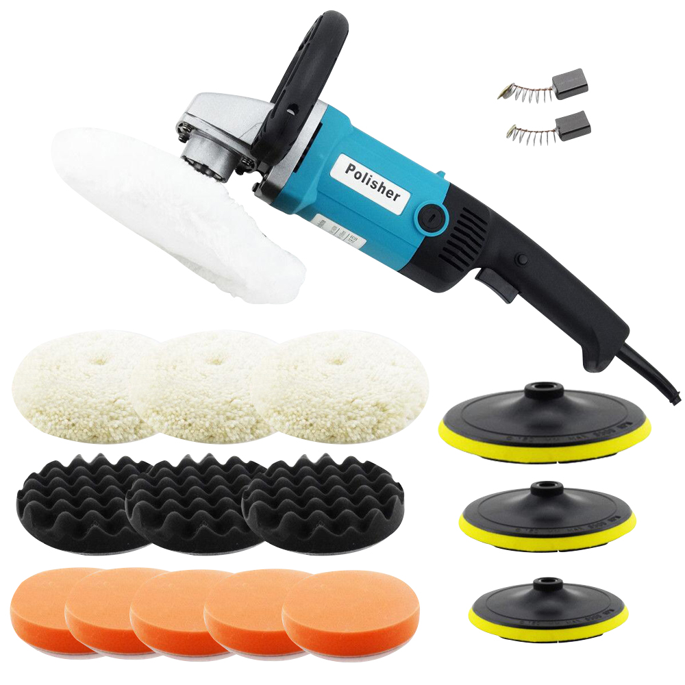 Electric Sander Polisher Car Body Buffer Machine and 180mm Polishing//Sanding Kit