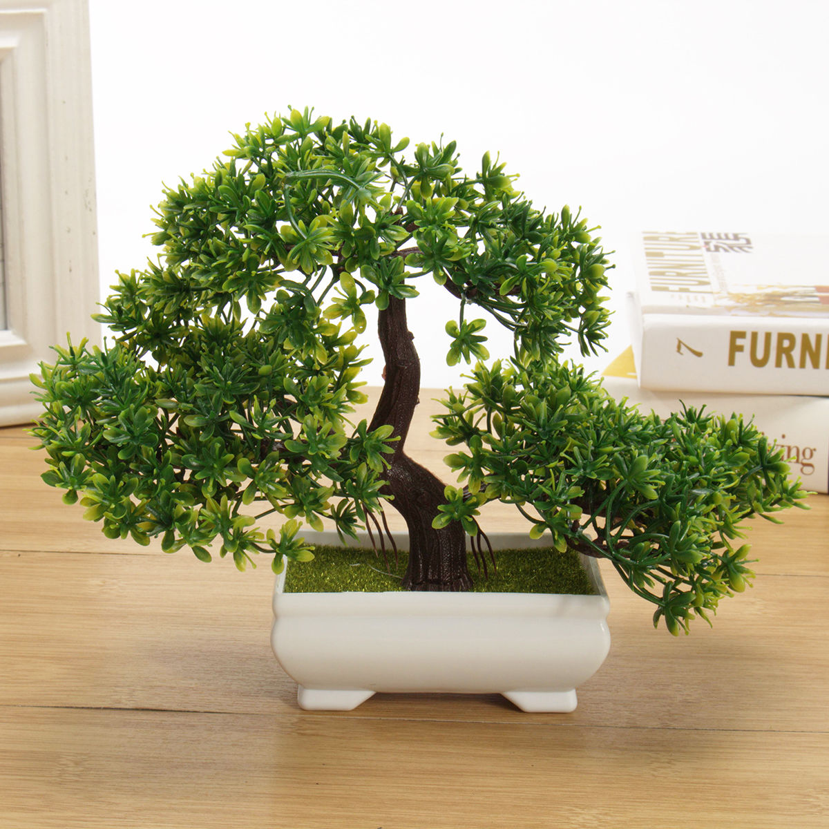 office bonsai tree. Fine Office Bonsai Tree In Square Pot  Artificial Plant Decoration For OfficeHome 18cm In Office