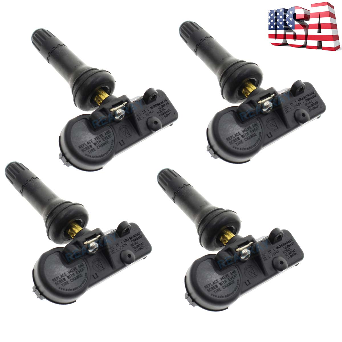 Car Tire Pressure Monitoring System TPMS Sensor for GM Chevy 22853741 13586335 4pcs Tire Pressure Sensor Compatible with Chevy GM Pontiac Buick Cadillac Hummer