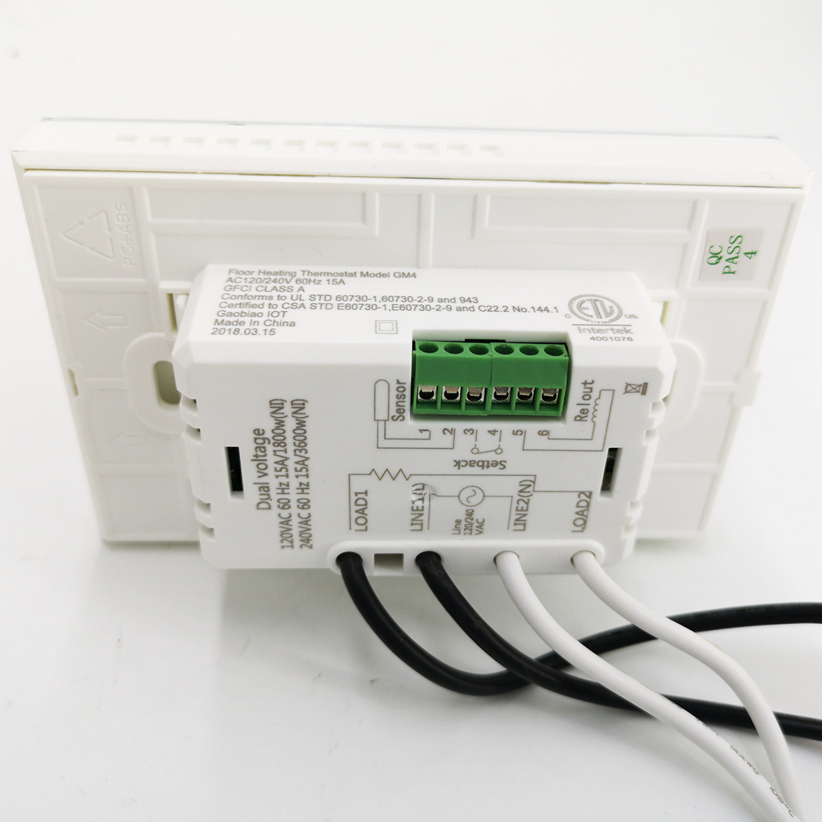 Programmable Underfloor Heating Thermostat 120 240v Lcd Display And Gfci Wiring Diagram Voltage With Floor Sensor