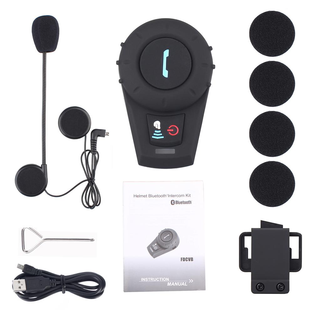 Walkie Talkie Motorcycle Helmet Speaker And Microphone System