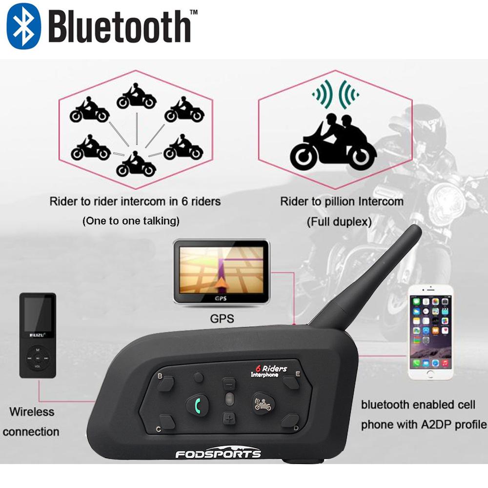 2x-BT-Bluetooth-Motorcycle-Helmet-Interphone-Intercom-GPS-Headset-1200M-6Riders