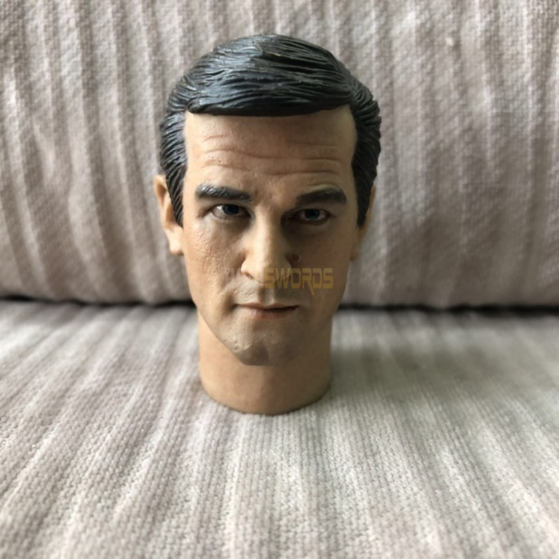"""Free Ship 1//6 scale Head Sculpt Roger Moore as James bond 007 For 12/"""" figure toy"""