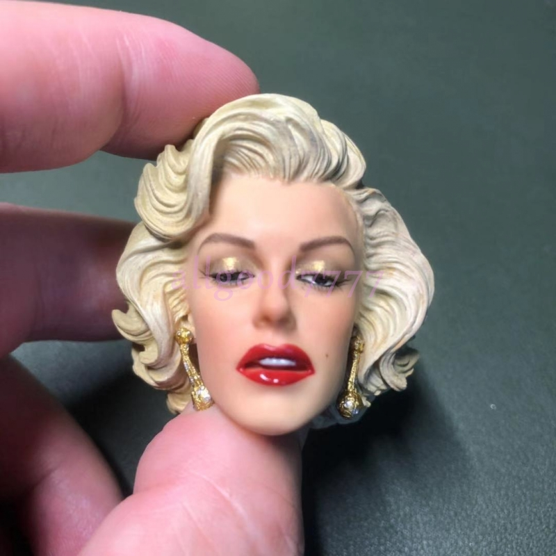 """1//6 Marilyn Monroe Head Sculpt 2.0 Painted For 12/"""" Hot Toys Phicen SHIP FROM USA"""