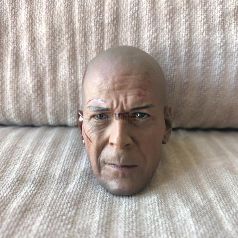 1//6 head sculpt Bruce Willis Die Hard GI Joe Retaliation Normall Version