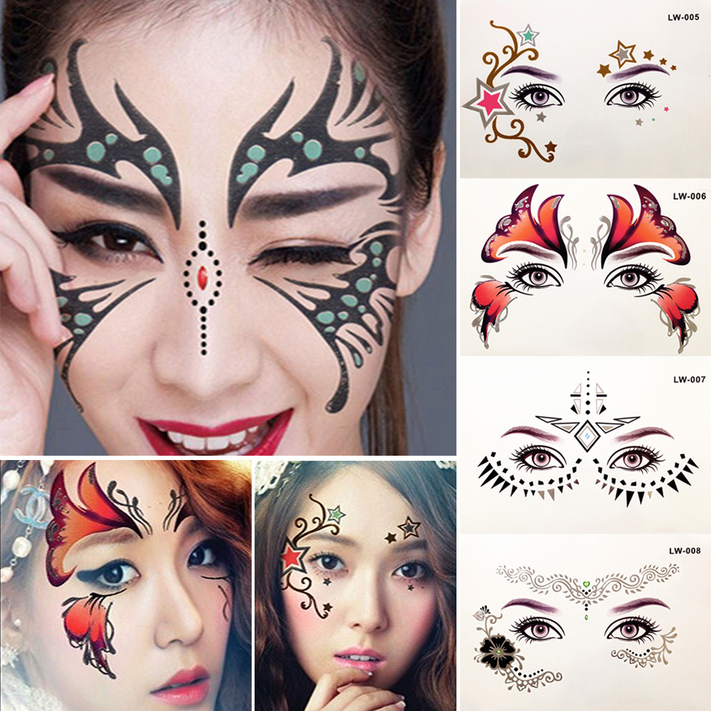 Temporary Tattoo Stickers Eyes Face