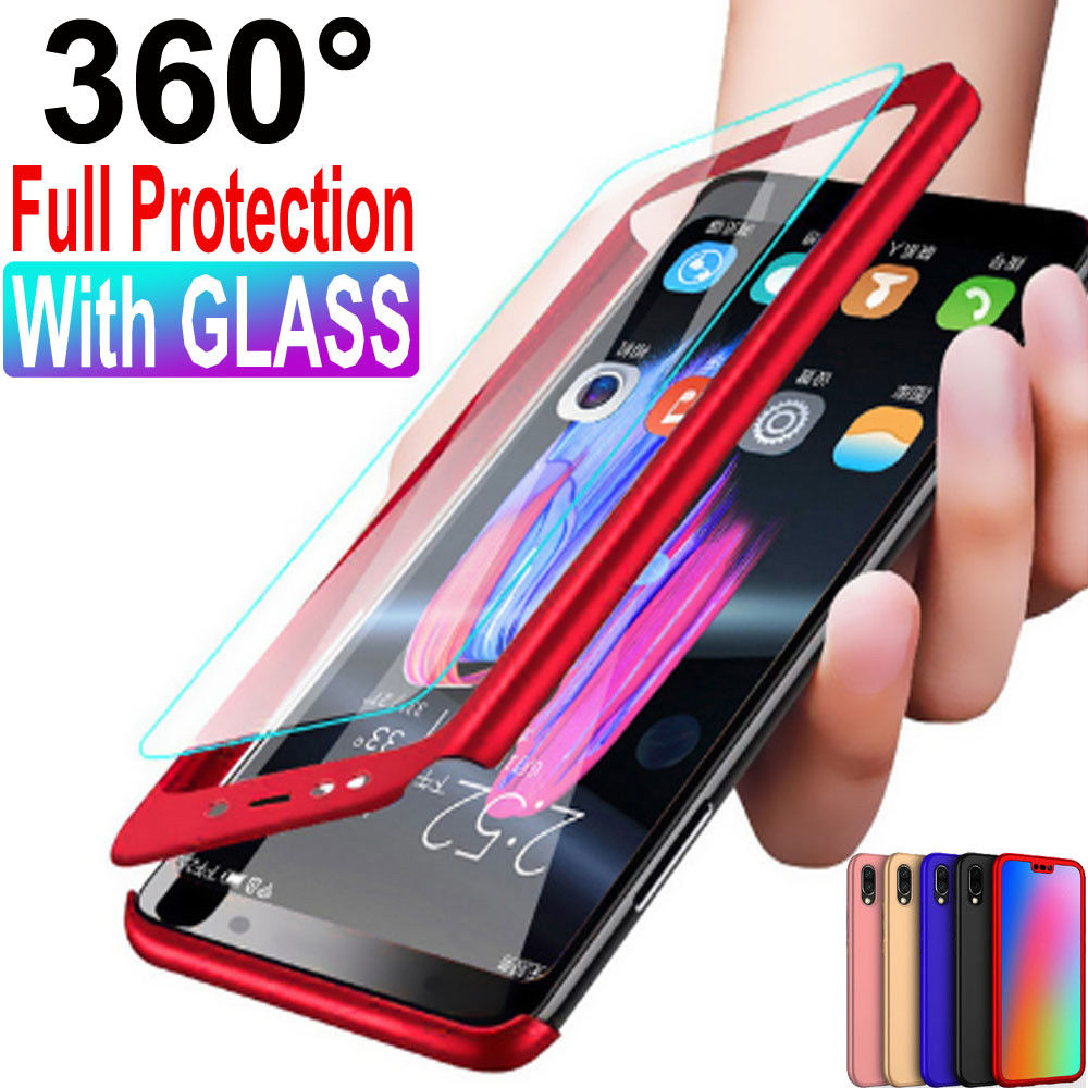 360° Full Cover Case Tempered Glass for Huawei P20 P10 P9 Lite ...