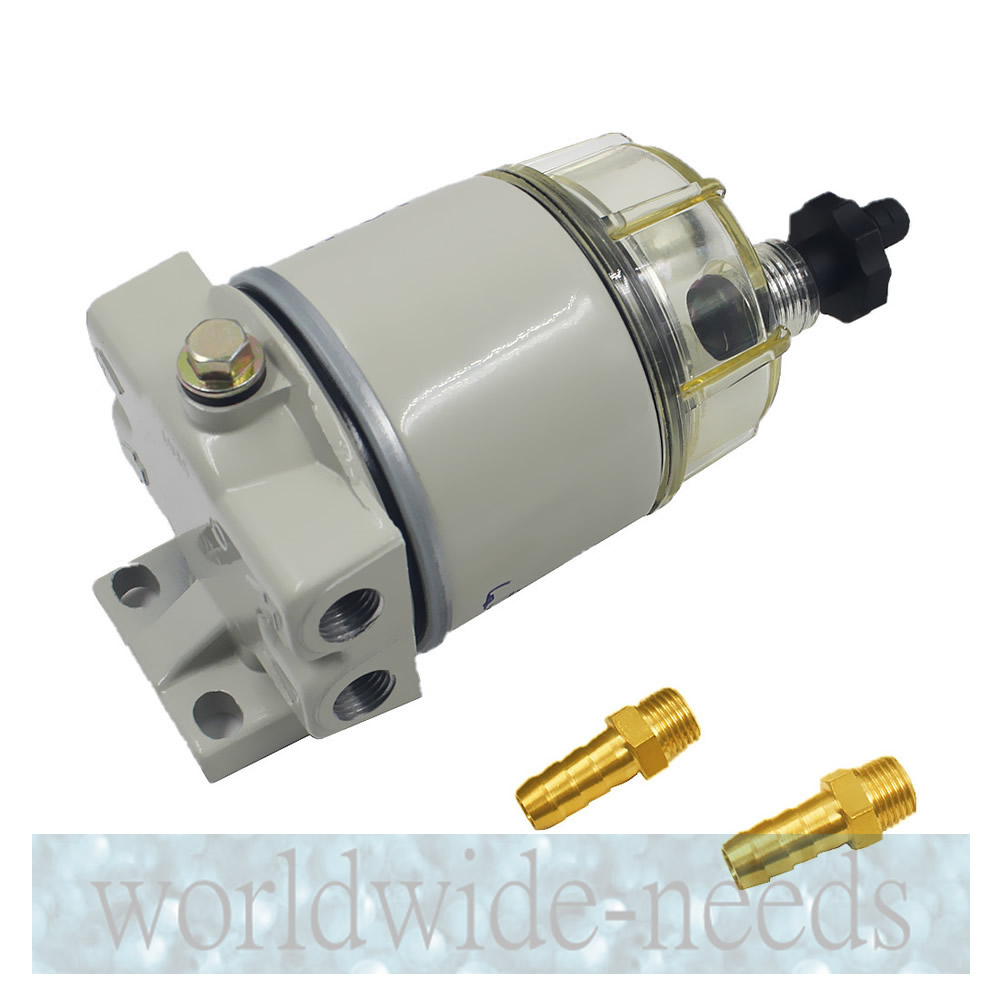 WITH Fuel Fittings Marine Spin-on Fuel Filter Water Separator R12T For RACOR