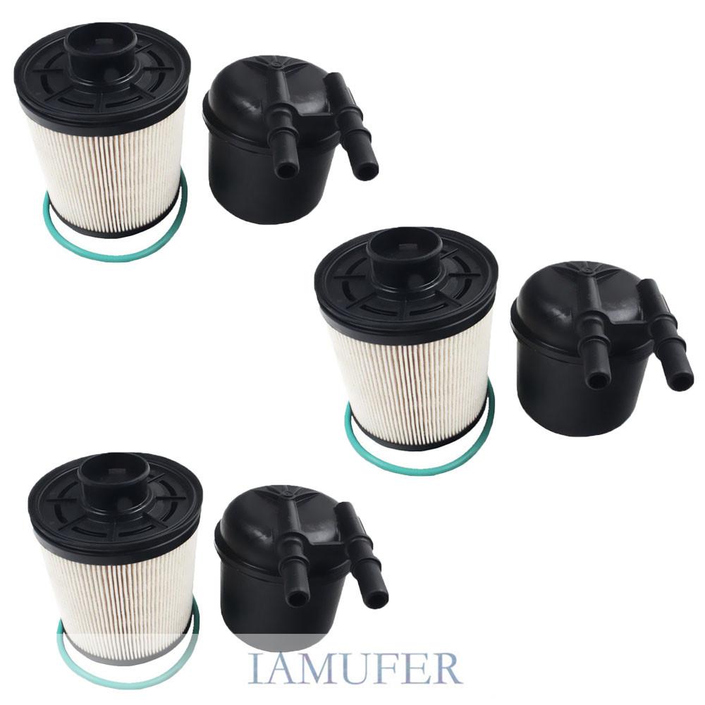 3 set fuel filters fd4615 liter powerstroke for 2011 2016. Black Bedroom Furniture Sets. Home Design Ideas