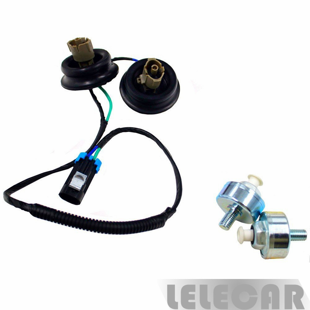 Dual Knock Sensors Wire w// Harness Kit 8104566030 For Chevy Silverado /& Suburban