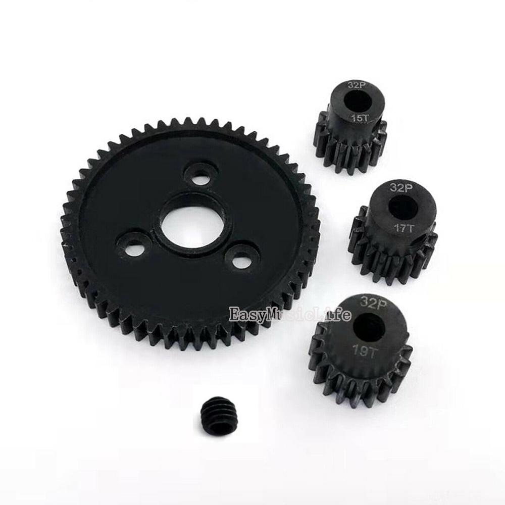 4PCS 15T 17T 19T 54T 32P Steel Motor Spur Gear for 1//10 Traxxas Slash 90025
