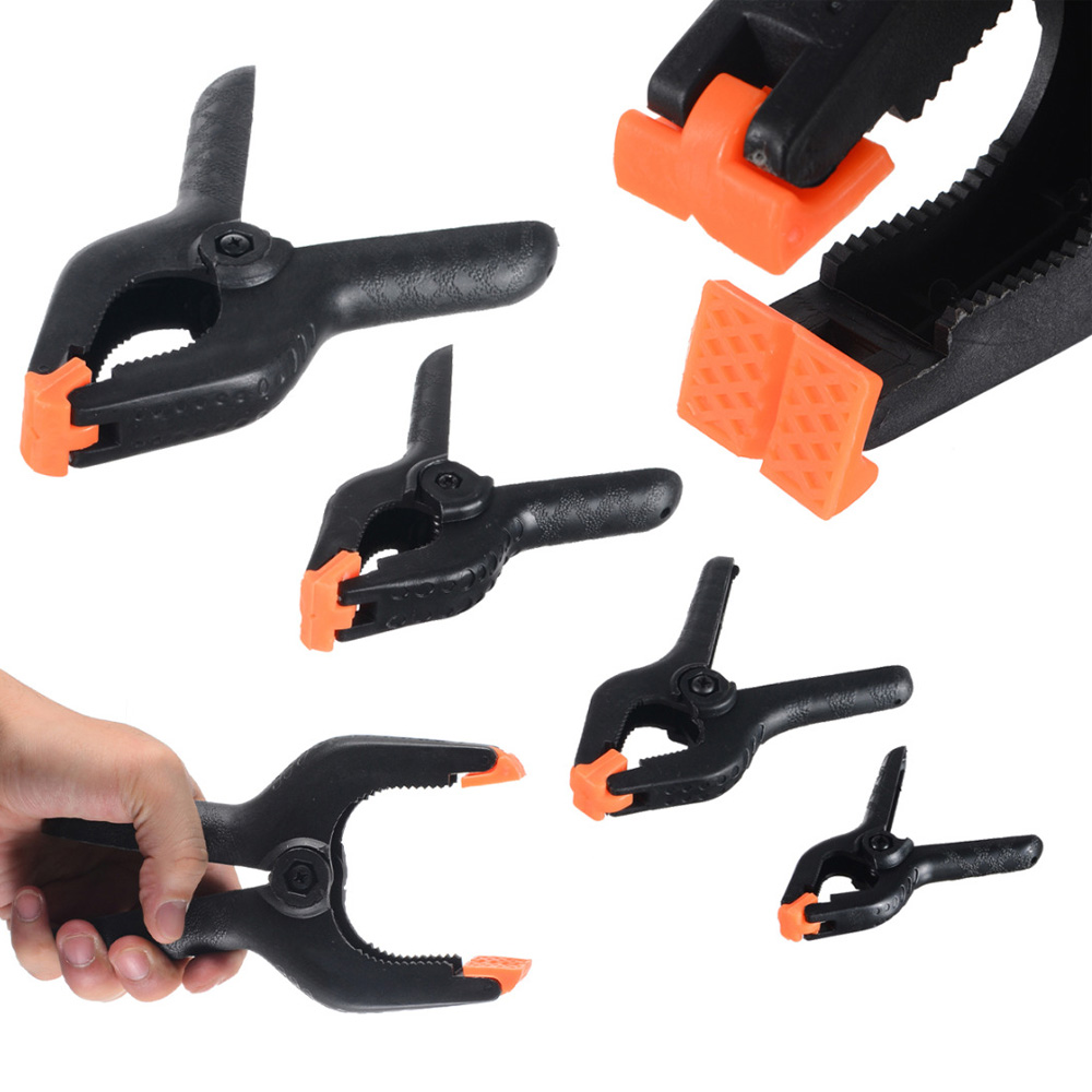 """1Pc 3/"""" Black Nylon Heavy Duty Strong Spring Clamp Clip Jaw Opening Clamps Tools"""