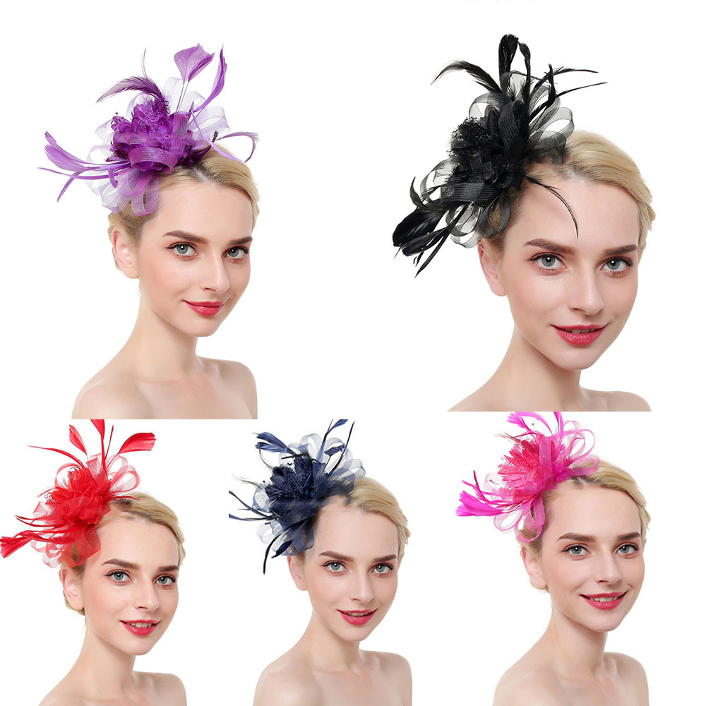Women/'s Beautiful Stylish Ladies Accessories Feather /& Flower Hair Fascinators