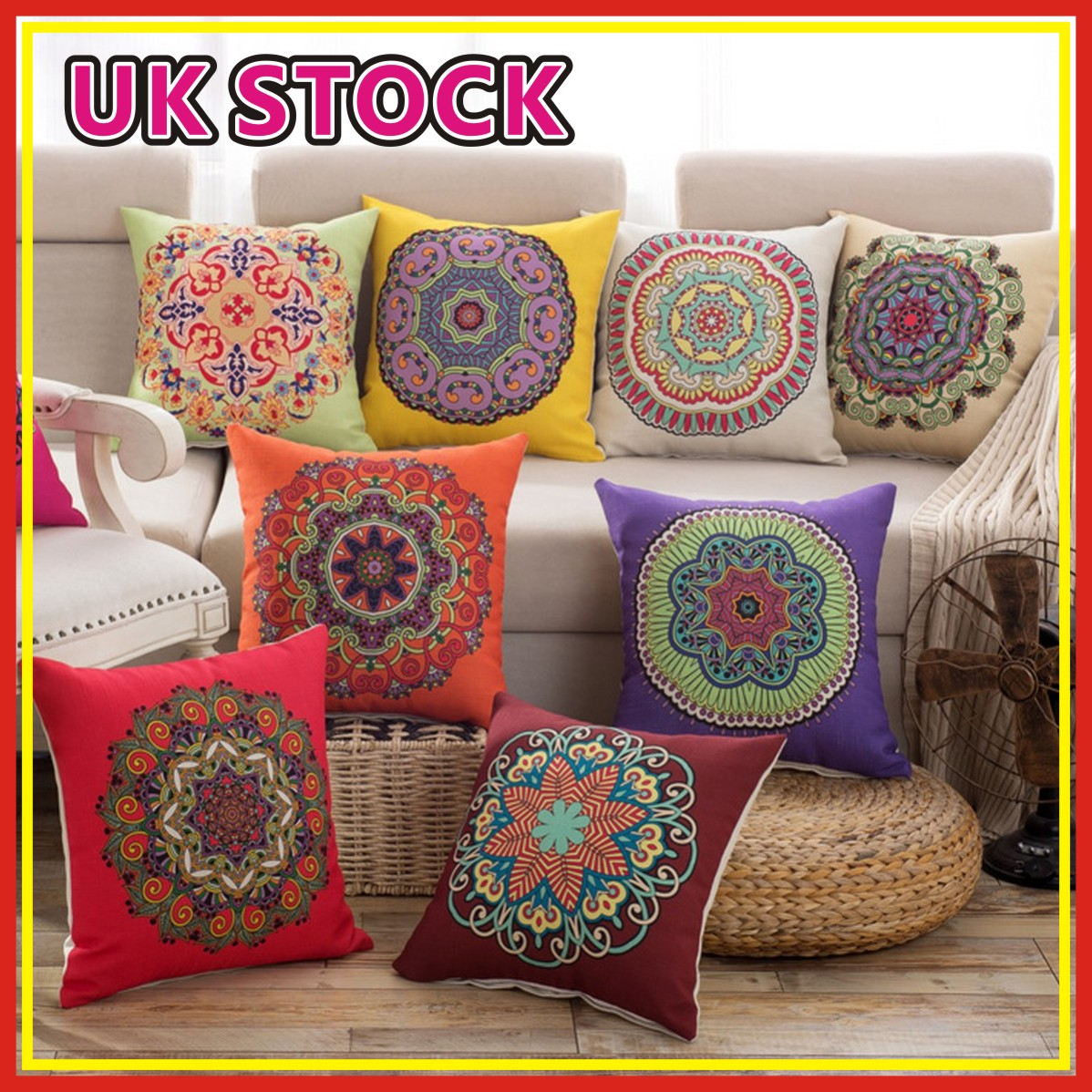 Details About Ethnic Embroidery Cushion Cover Throw Sofa Pillow Case Home Car Decor 18