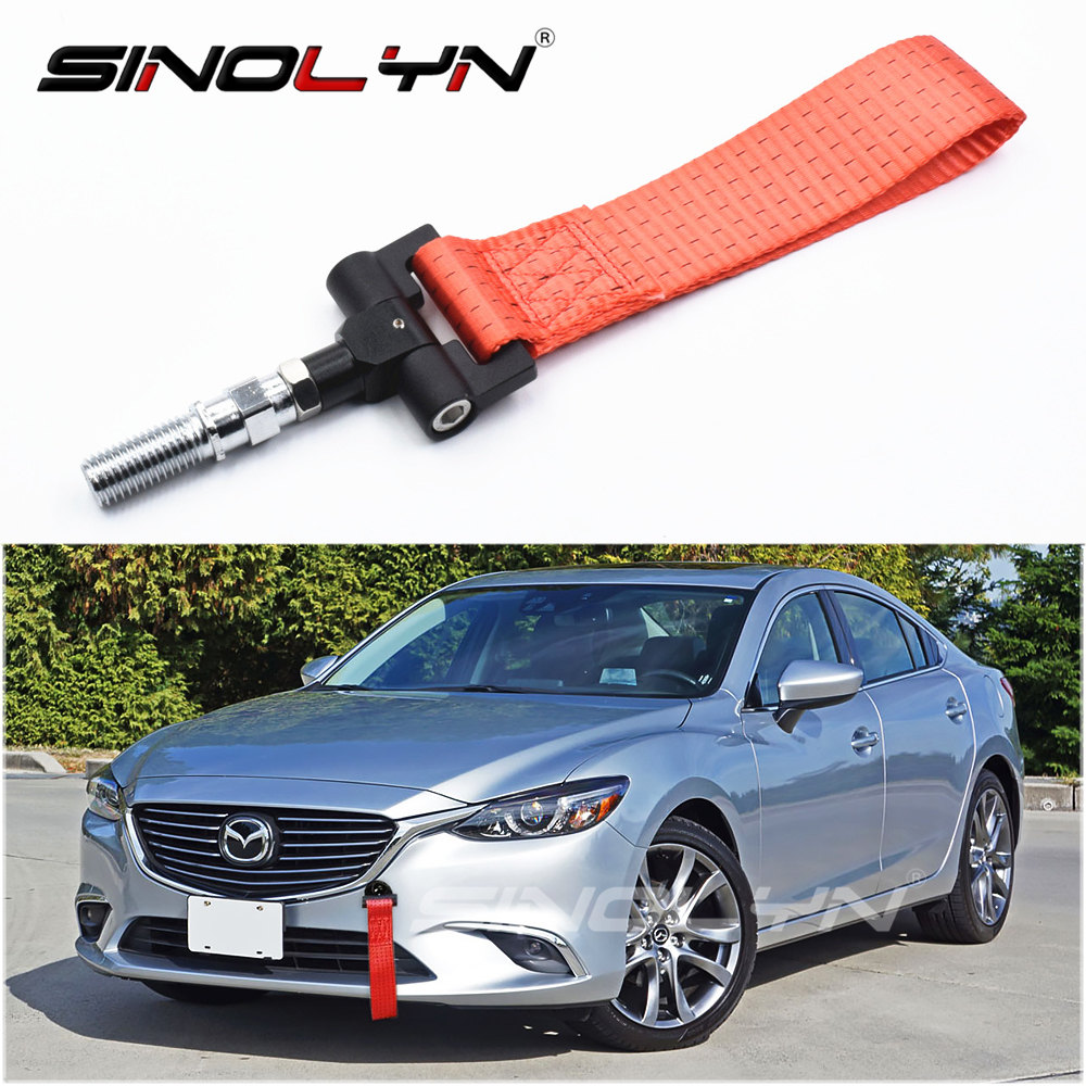 Track Racing Style Aluminum Tow Hook Belt Ropes Stra For