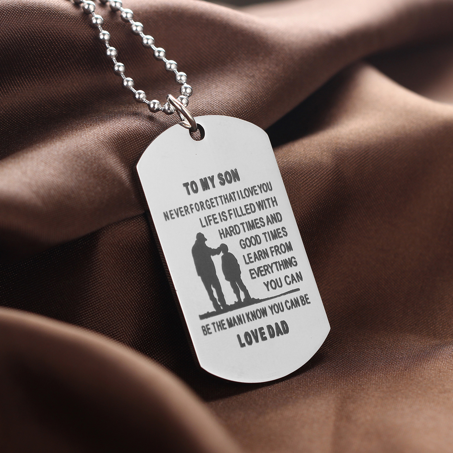 necklace steel shop dog stainless partyspot adult tag military occasions
