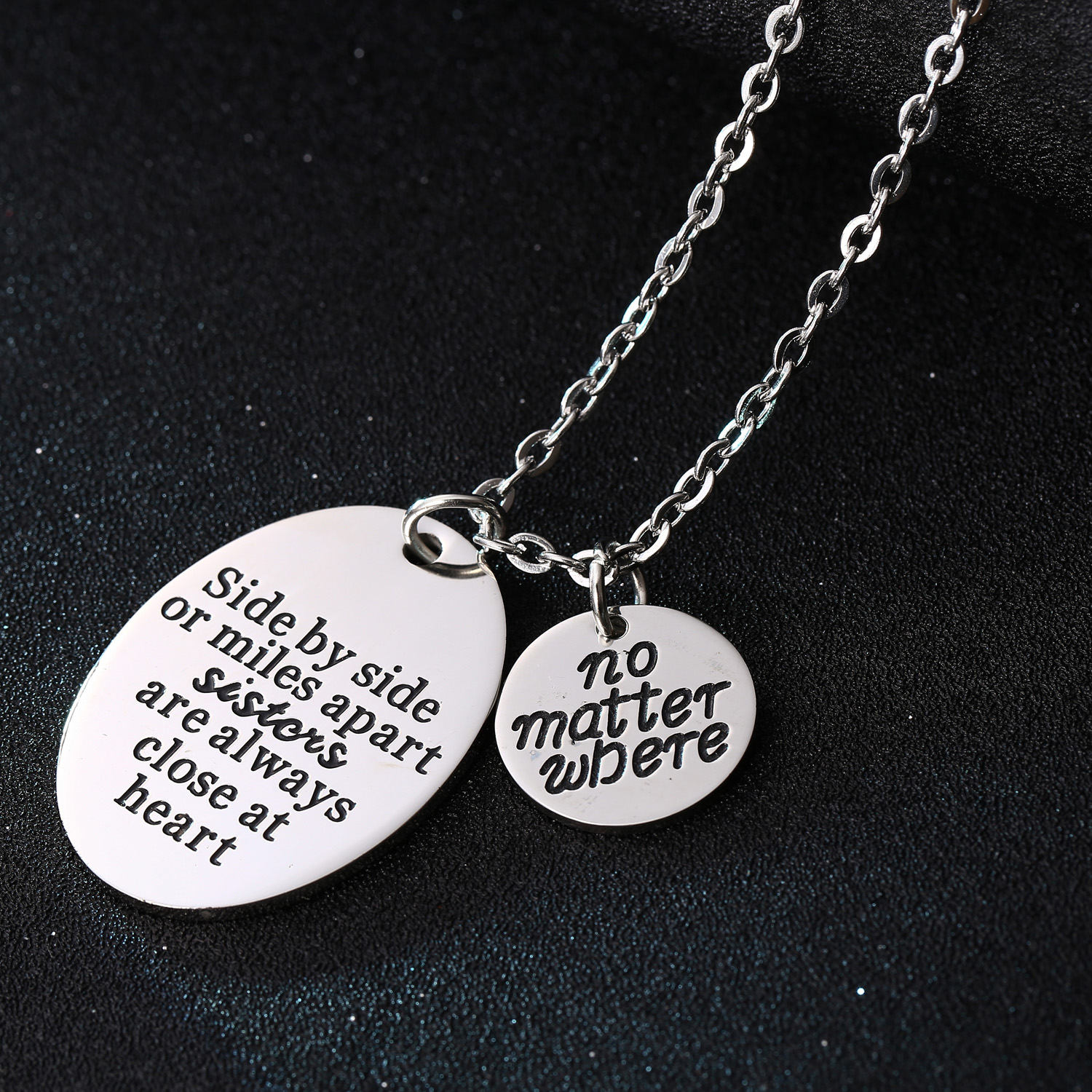 friend itm stamped women chain men quote pendant father hand necklace mother jewelry