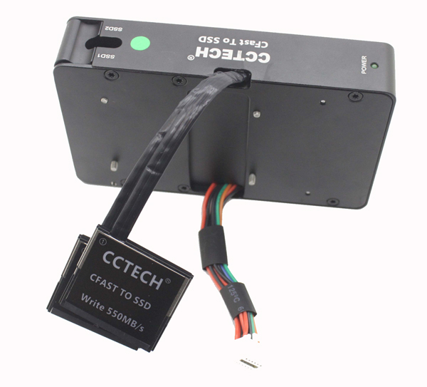 "Pro CCTECH CFast 2.0 a 2.5/"" Sata 3 4T Ssd Montaje THS Blackmagic URSA Mini 4K 4.6K"
