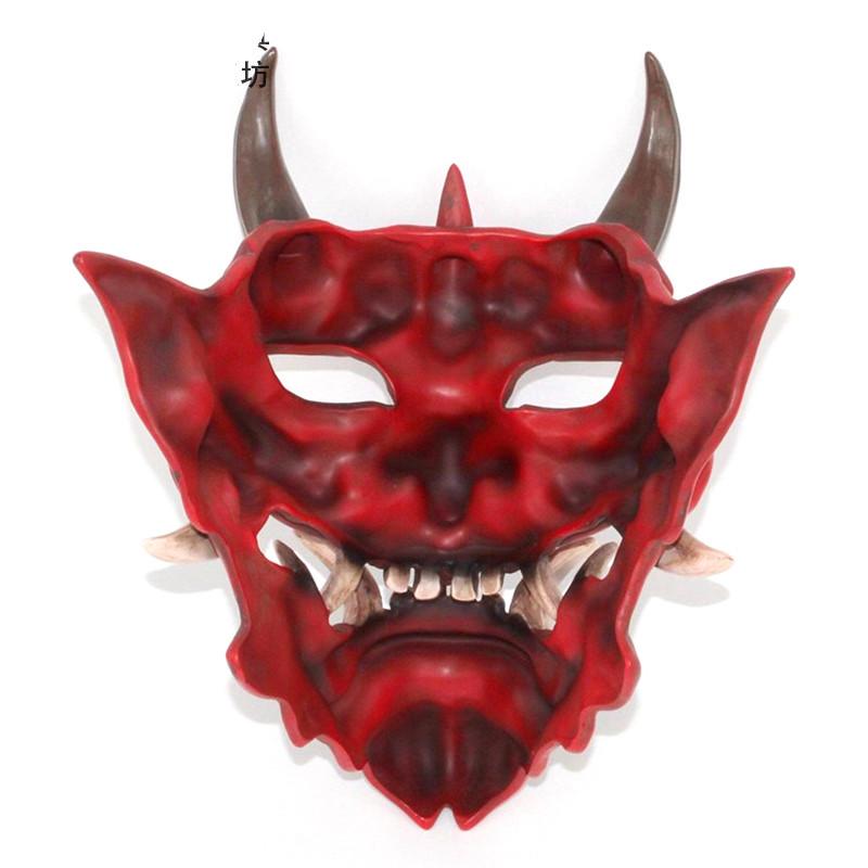 JAPAN Prajna Mask Hannya Noh Kabuki Devil Demon Oni Samurai Cosplay Masks XXL SIZE 40\u00d722 cm