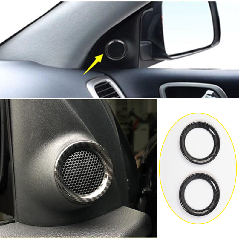 2pcs ABS Fit for Jeep Grand Cherokee 11-18 Stereo Speaker Ring Cover Trim Sound